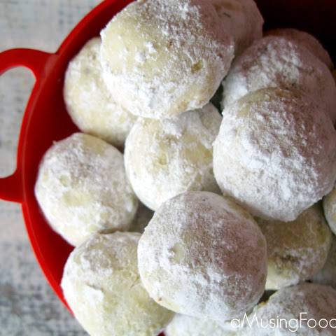 Almond Lime Snowball Cookies