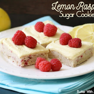 LEMON RASPBERRY SUGAR COOKIE BARS