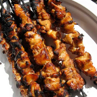 Honey and Beer Glazed Chicken Skewers