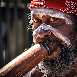 Aboriginal Man 1 by Angela Taya - People Portraits of Men (  )