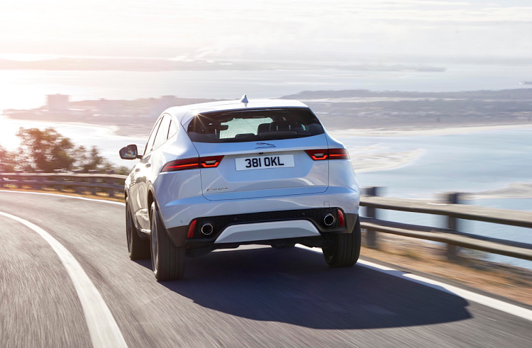 Short front and rear overhangs give the E-Pace a sporty appearance