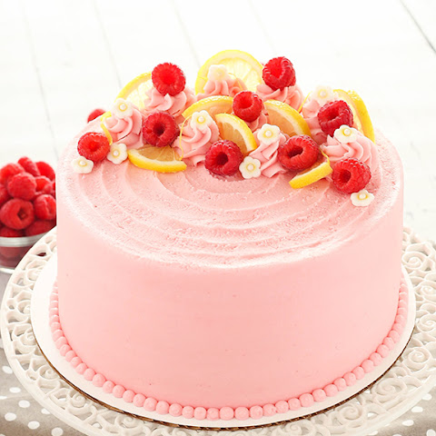 Lemon Raspberry Layer Cake