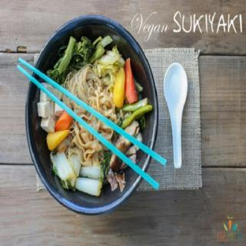 Vegan Sukiyaki, A Japanese Hot Pot