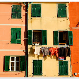 Eyes by Andrea Macherelli Bianchini - Buildings & Architecture Homes ( daytime, houses, italia, window, colors, liguria, riomaggiore, windows, house, italy )