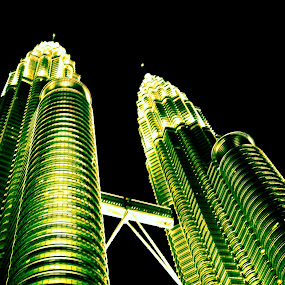 twin tower by Mohammed Arief - Buildings & Architecture Architectural Detail ( path, nature, landscape )