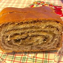 Carol's Christmas Potica by Mike DeLong - Food & Drink Cooking & Baking ( sweet, oven, bread, christmas, baked goods, walnuts )