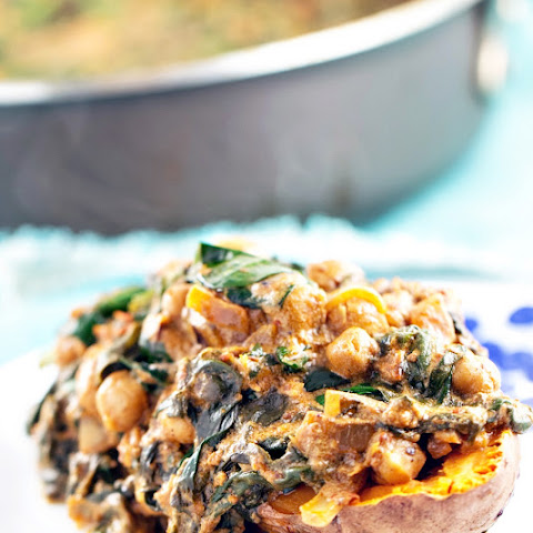 Coconut Braised Chickpeas and Spinach