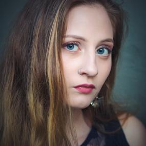 Teal Eyes by Edi Libedinsky - People Portraits of Women ( girl, woman, beauty, portrait, eyes,  )