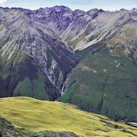 by Phil Bear - Landscapes Mountains & Hills ( mountains, gorge, arthur's pass, waterfall, new zealand )