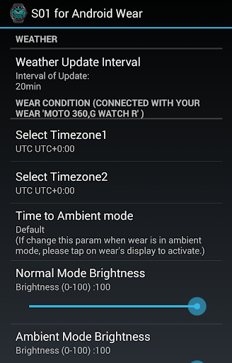 S01 WatchFace for Android Wear - screenshot