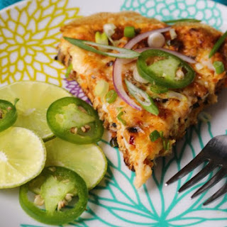 Jalapeno Chicken Breakfast Pizza with Sweet Potato Crust