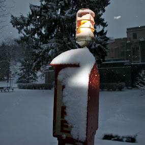 by Stephanie Seward - Products & Objects Signs ( winter, storm, light, antique, fire )