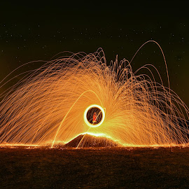 Burn by D K - Abstract Light Painting ( night photography, dark, lightpainting, fireworks, long exposure, night, night shot, light, fire )