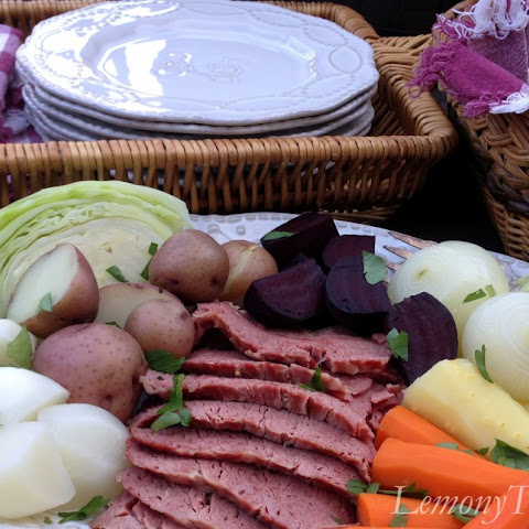 New England Boiled Dinner {Corned Beef & Cabbage}
