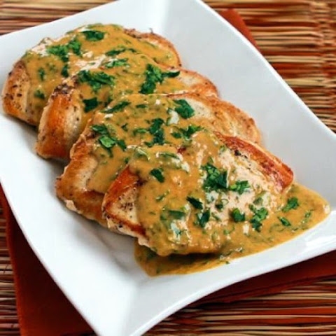 Chicken Breasts with Cilantro and Curry Peanut Sauce