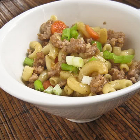 Stir-fried Macaroni with Ground Pork