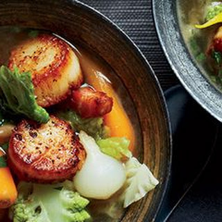 Seared Scallop Stew with Winter Vegetables