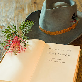 IMG_2421 by Deborah Bisley - Artistic Objects Still Life ( hats, books, poetry, flower, country objects, country )