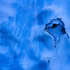 Abstract by Badr Pedro - Abstract Macro ( abstract, color, blue, street, wall )