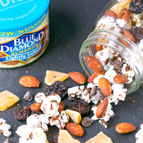 Easy Chocolate Popcorn and Almond Trail Mix