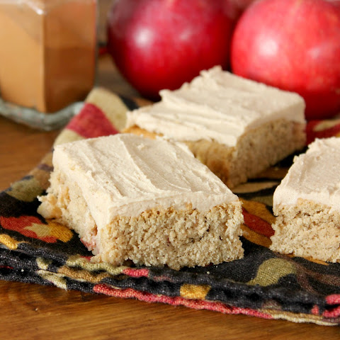 Frosted Apple Blondies