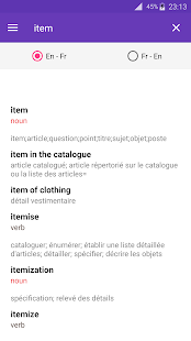 Dict English French offline - screenshot