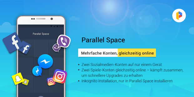 Parallel Space-Mehrfachkonten Screenshot