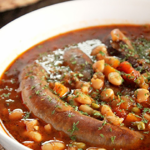 Slow Cooker Italian Bean Soup with Sausage