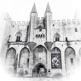 Avignon by Mike Hotovy - Digital Art Places