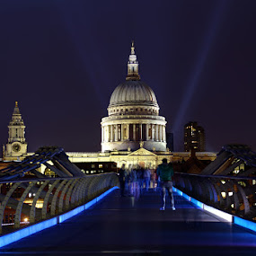 VE Day 2015 by Bill Green - Buildings & Architecture Public & Historical ( st pauls, ve day, london, st pauls cathedral, millennium bridge, ve day 2015 )