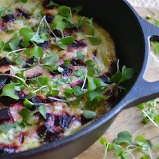 Roasted Beet and Micro Kale Frittata