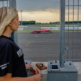 Waiting for you by Jiri Cetkovsky - Sports & Fitness Motorsports ( motorsport, race, waiting, car, girl )