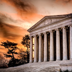 Jefferson Sunrise by Kevin Miller - City,  Street & Park  Historic Districts