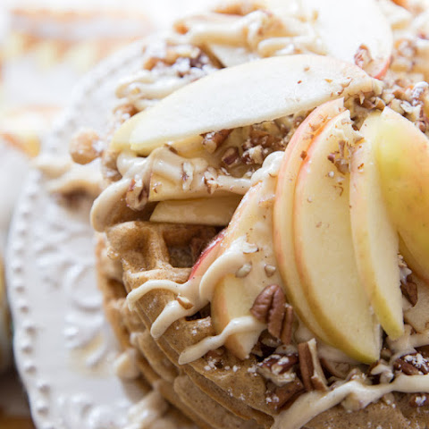 Whole Wheat Apple Pie Waffles
