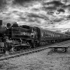 Now Leaving by Dave Godden - Transportation Trains ( rails, railway, station, now, sussex, kent, tenterden, rail, train, bodiam, east, steam )