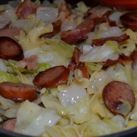 Old Fashioned Cabbage and Noodles with Keilbasa