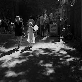 Two women by Victoria Artamonova - People Maternity ( girl, woman, way, summer, balloon, women, sun )