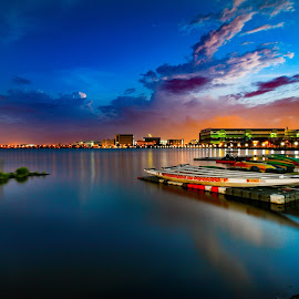 Peaceful reservoir  by Chong Kok - Landscapes Sunsets & Sunrises ( scenery after sunset )