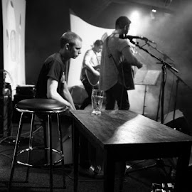 imp by Kathleen Devai - People Musicians & Entertainers ( music, band, monochrome, live, gig )