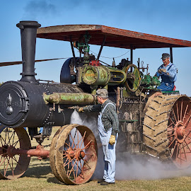 Steam Tractor  by Jeff Brown - Transportation Other ( steam engines, steam tractor, case tractors, farming )