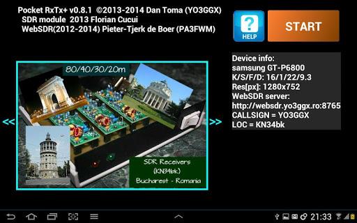 Pocket RxTx+ - screenshot