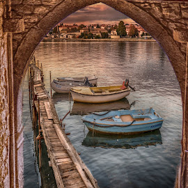 boats in the frame by Eseker RI - Transportation Boats