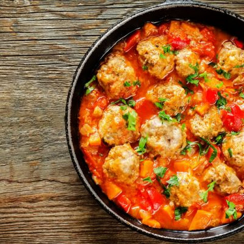 Easy Meatballs and Sweet Peppers