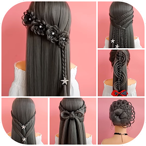 Hairstyles step by step for girls For PC / Windows 7/8/10 / Mac – Free Download