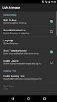 Screenshot of Light Manager - LED Settings
