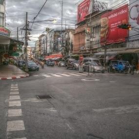 Thailand street by Tze Seng - City,  Street & Park  Street Scenes