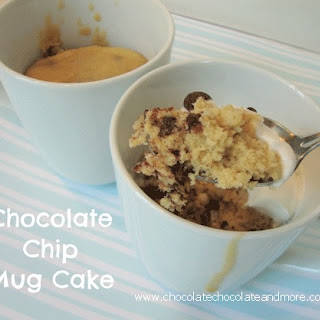 Chocolate Chip Cookie Dough Mug Cake