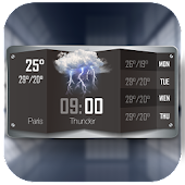 Download Black Clock & Weather Forecast APK to PC