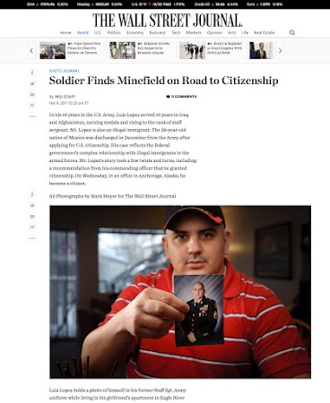 Photo Journal feature in the Wall Street Journal