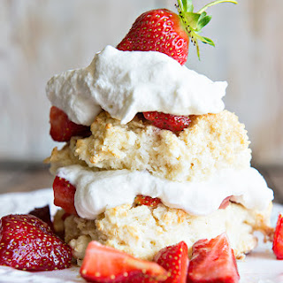 Homemade Strawberry Shortcake with Grand Mariner Whipped Cream